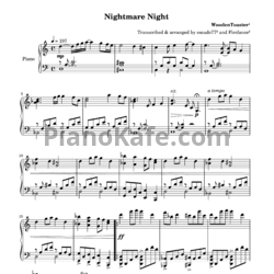 ноты Woodentoaster Nightmare Night ноты для фортепиано Pianokafe