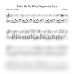 Ноты Green Day - Wake me up when september ends (Piano cover) - PianoKafe.com