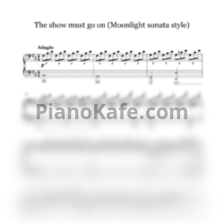 Ноты Natalia Posnova - The show must go on (Moonlight sonata style) - PianoKafe.com