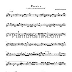 Ноты Calvin Harris, Sam Smith - Promises - PianoKafe.com