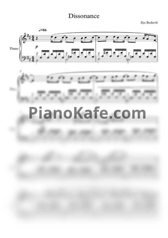 Ноты Ilya Beshevli - Touch of miracle (Songbook) - PianoKafe.com