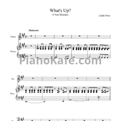 Ноты 4 Non Blondes - What's up - PianoKafe.com