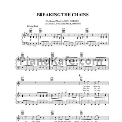 Ноты Dokken - Breaking the chains - PianoKafe.com