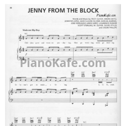 Ноты Jennifer Lopez - Jenny from the block - PianoKafe.com