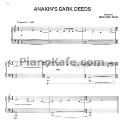 Ноты John Williams - Anakin's dark deeds - PianoKafe.com
