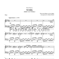 Ноты Jimmy Eat World - Work - PianoKafe.com