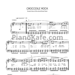 Ноты Elton John - Crocodile rock - PianoKafe.com
