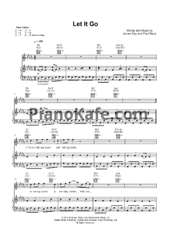 Enchanting Let It Go James Bay Chords Embellishment - Guitar Ukulele ...