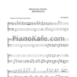 Ноты Apocalyptica - Welcome home (Saintarium) - PianoKafe.com