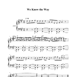 Ноты Lin-Manuel Miranda - We know the way - PianoKafe.com