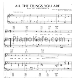 Ноты Jerome Kern - All the things you are - PianoKafe.com