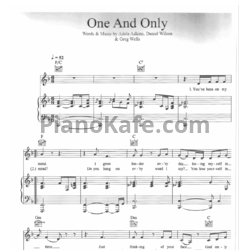 Ноты Adele - One and only - PianoKafe.com