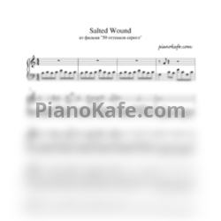 Ноты Sia - Salted wound - PianoKafe.com