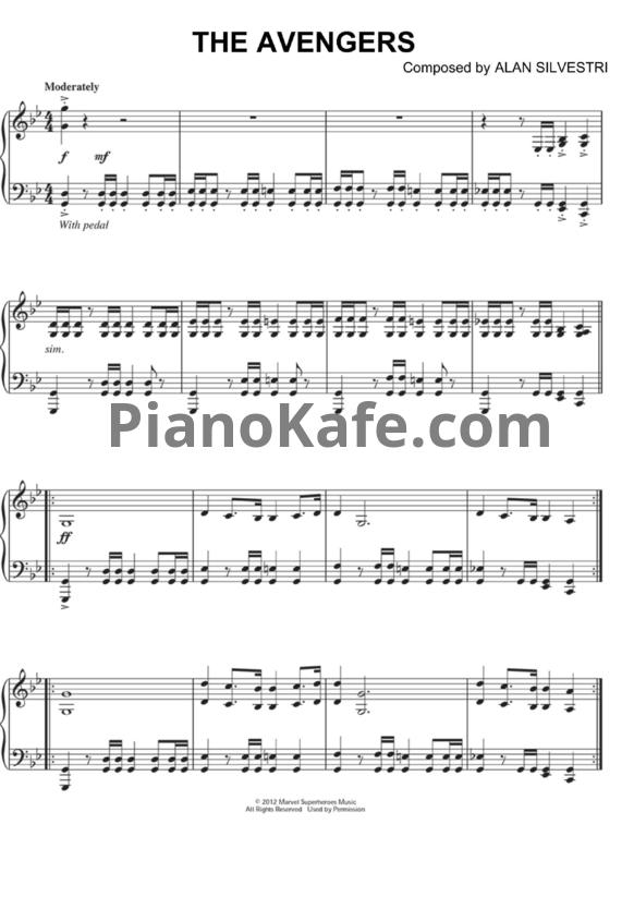 The Avengers Main Theme Piano Version Ноты