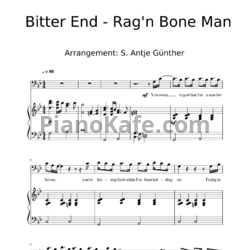 Ноты Rag 'n Bone Man - Bitter end (Версия 2) - PianoKafe.com