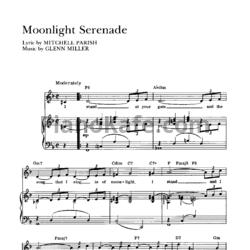 лучших стихотворений мунлайт серенада глен миллер ноты Сакраменто