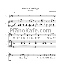 Ноты The Vamps, Martin Jensen - Middle of the night - PianoKafe.com