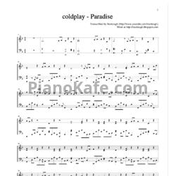 ноты для фортепиано coldplay paradise