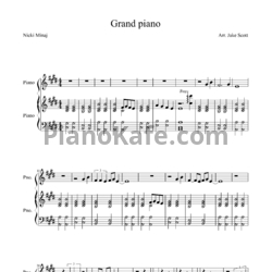 Ноты Nicki Minaj - Grand piano - PianoKafe.com
