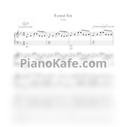 Ноты A-ha - Forest fire - PianoKafe.com