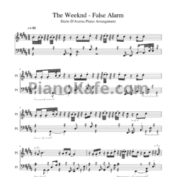 Ноты The Weeknd - False alarm - PianoKafe.com