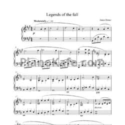 Ноты James Horner - Legends of the fall - PianoKafe.com