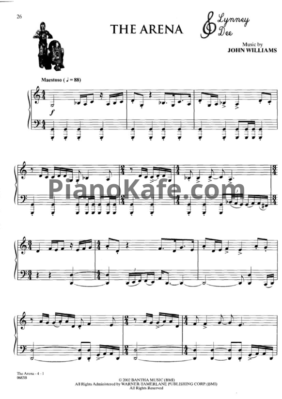Ноты John Williams - The arena - PianoKafe.com