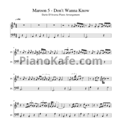Ноты Maroon 5 feat. Kendrick Lamar - Don't wanna know - PianoKafe.com
