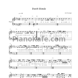 Ноты Avril Lavigne - Dumb blonde - PianoKafe.com