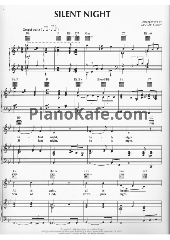 Ноты Mariah Carey - Merry Christmas (Книга нот) - PianoKafe.com
