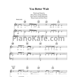 Ноты Steve Perry - You better wait - PianoKafe.com