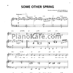 Ноты Billie Holiday - Some other spring - PianoKafe.com
