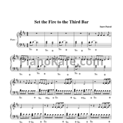 Ноты Snow Patrol feat. Martha Wainwright - Set the fire to the third bar - PianoKafe.com
