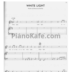 Ноты Gorillaz - White light - PianoKafe.com