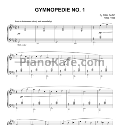 Ноты Erik  Satie - Gymnopedie No. 1 - PianoKafe.com