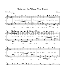 Ноты Sabrina Carpenter - Christmas the whole year round - PianoKafe.com