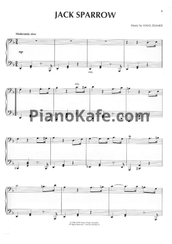 ноты пираты карибского моря для скрипки