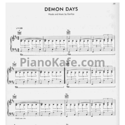 Ноты Gorillaz - Demon days - PianoKafe.com