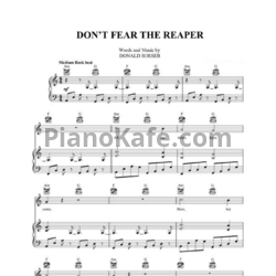 Ноты Blue Oyster Cult - Don't fear the peaper - PianoKafe.com