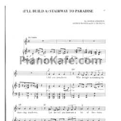 Ноты George Gershwin - (I'll build a) Stairway to paradise - PianoKafe.com