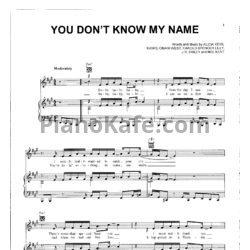 Ноты Alicia Keys - You don't know my name - PianoKafe.com