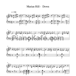 Ноты Marian Hill - Down - PianoKafe.com