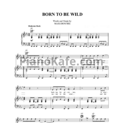Ноты Steppenwolf - Born to be wild - PianoKafe.com