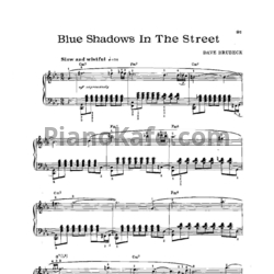 Ноты Dave Brubeck - Blue shadows in the street - PianoKafe.com
