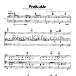 Ноты Delta Goodrem - Predictable - PianoKafe.com