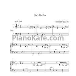 Ноты Robbie Williams - She's the one - PianoKafe.com