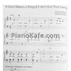 Ноты Duke Ellington - It don't mean a thing (If it ain't got that swing) (Версия 2) - PianoKafe.com