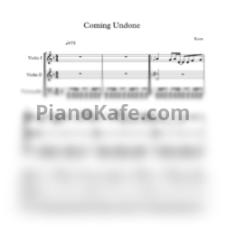 Ноты Korn - Coming undone (String trio) - PianoKafe.com