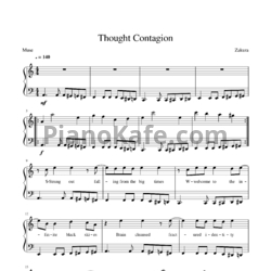 Ноты Muse - Thought contagion - PianoKafe.com