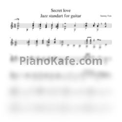 Ноты Sammy Fain - Secret love - PianoKafe.com